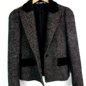 Gucci Wool Blazer Jacket 38 Black Women Size 38